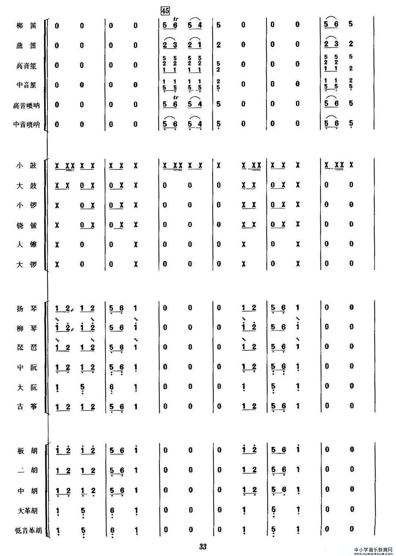 金蛇狂舞(民乐合奏总谱,周仲康配器版)8