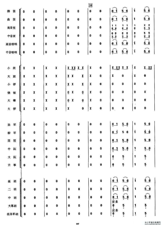 金蛇狂舞(民乐合奏总谱,周仲康配器版)2