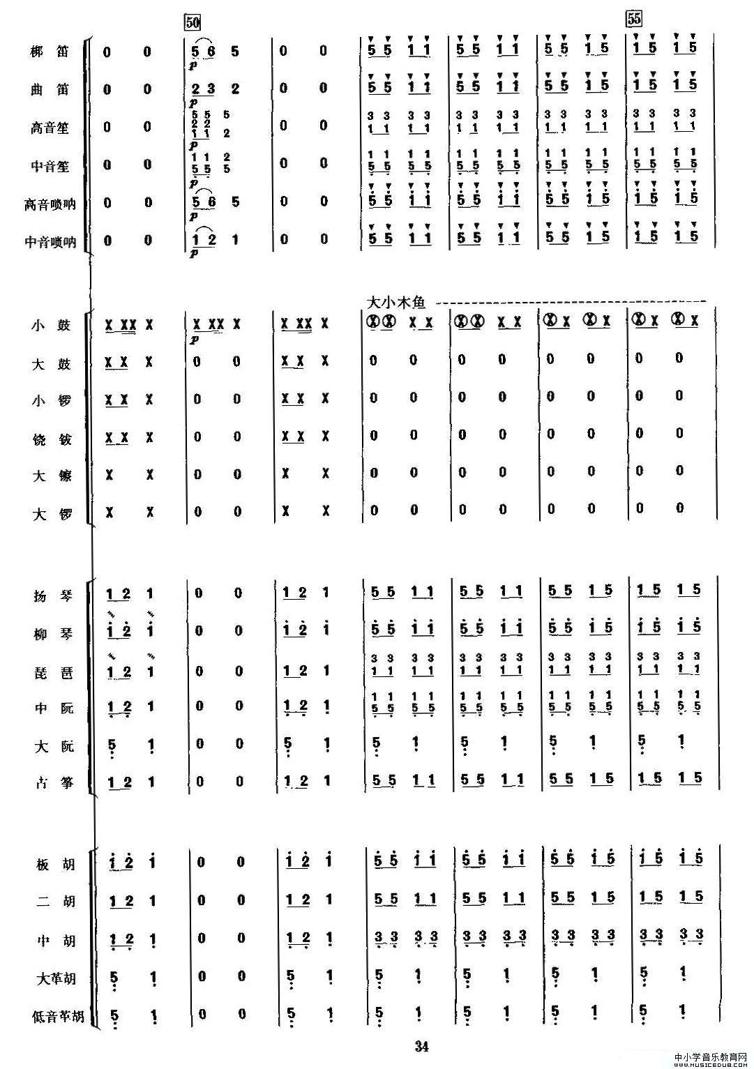 金蛇狂舞(民乐合奏总谱,周仲康配器版)(1)_原文件名:j9.jpg